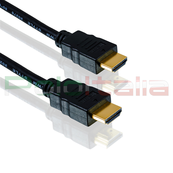 Cavo HDMI 1.4 with Ethernet 3D Full HD 4K Tipo A Maschio/Maschio